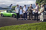 Electric car rally recognizes Marine Corps Base Hawaii commanding officer DVIDS354216.jpg