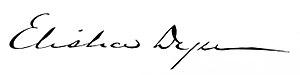 Elisha Dyer Jr. - Image: Elisha Dyer Jr. Signature