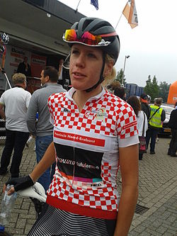 Ellen van Dijk before the start of stage 5 of the 2013 Holland Ladies Tour.jpg