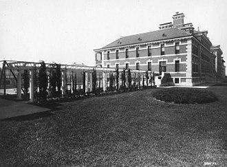 Ellis Island Immigrant Hospital - View of the hospital