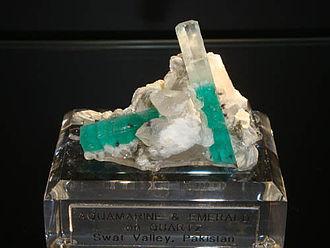 Gemstones of Pakistan - Image: Emerald of Swat Valley