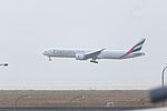 Emirates, EK316, Boeing 777-36N(ER), A6-EBW, Arrived from Dubai, Kansai Airport (16989972377).jpg