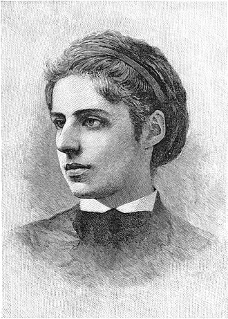 Sephardi Jews - Emma Lazarus, American poet. Born into a large New York Sephardi family.