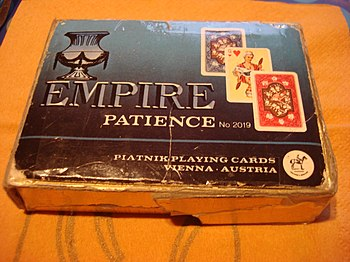 Empire Patience Playing Cards, Box