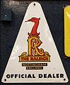 Enamel advertising sign, The Raleigh, Nottingham, England, official dealer.JPG