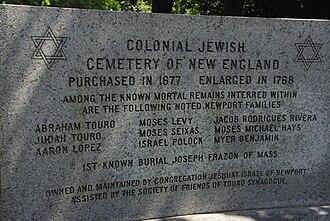Touro Cemetery - Image: Entrée du cimetière juif de Newport