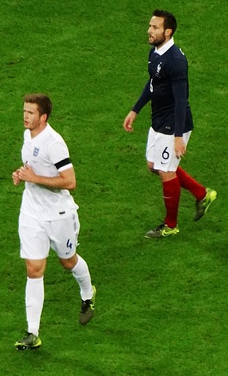 Yohan Cabaye - Cabaye (blue) playing against England in November 2015