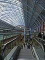 Escalator, St Pancras Station, London - geograph.org.uk - 1164923.jpg