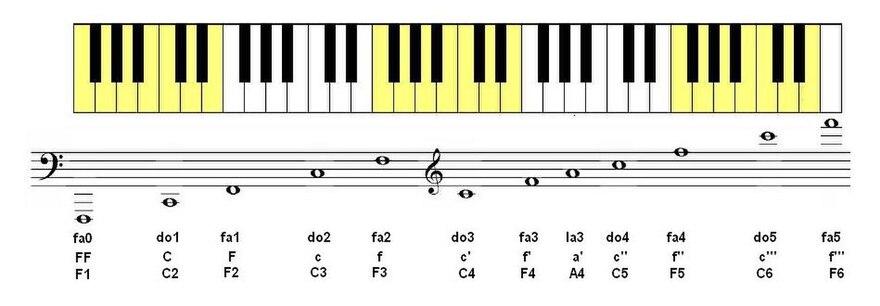 Favorit Histoire du clavier alphabétique/Instruments de musique à clavier  YF44