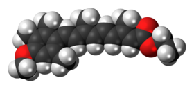 Space-filling model of the etretinate molecule