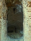 Etruscan Necropolis of Sutri, particular of the inside of a cave, Italy.jpg