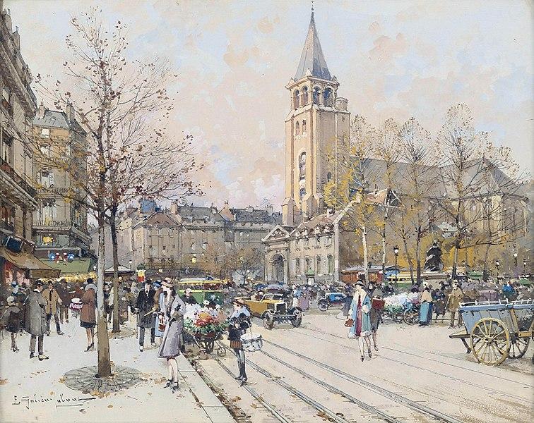 Fichier:Eugène Galien-Laloue Paris Eglise de St-Germain-des-Prés.jpg