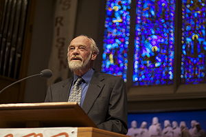 Eugene H. Peterson - Eugene Peterson speaking in Seattle, 2009.