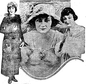 Evelyn Greeley - Three views of Evelyn Greeley, from 1918