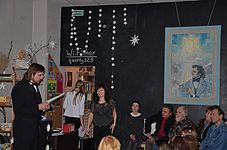 Evening with Ales Pushkin - Presentation Portrait of Chopin in Anticafe Fisher 10.02.2015 18.JPG