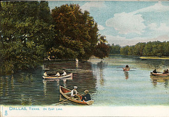 Highland Park, Texas - Exall Lake, Dallas, Texas (postcard, circa 1901-1907)