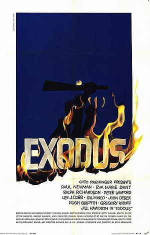 Exodus (1960 film) - Theatrical release film poster by Saul Bass