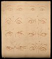 Eyes expressing good character (according to Lavater). Drawi Wellcome V0009230.jpg
