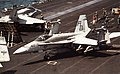 F-18C of VFA-86 on USS America (CV-66) in 1991.jpg