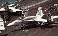 F-18C of VFA-86 on USS America (CV-66) in 1991.jpg