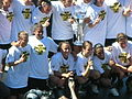 FC Gold Pride pose with 2010 WPS Championship Trophy 2.JPG