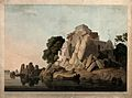 Fakir's Rock on the river Ganges, near Sultanganj, Bihar; so Wellcome V0050490.jpg