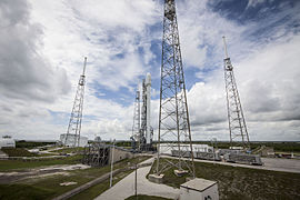Falcon 9 preparing to launch ASIASAT 6 (16830335046).jpg