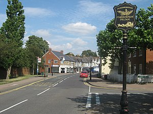 Farnborough, London - Image: Farnborough Village Sign on Farnborough High Street