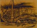 Felix Nussbaum - Vissersboten in de haven van Oostende 1935 001.JPG
