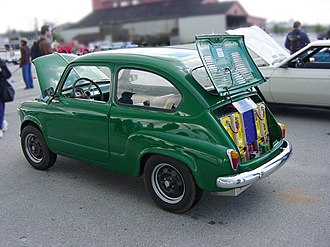 Electric vehicle conversion - This elderly Fiat employs batteries that can be mounted in any position