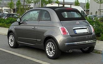 Cabrio coach - A modern example, a Fiat 500 (2007).