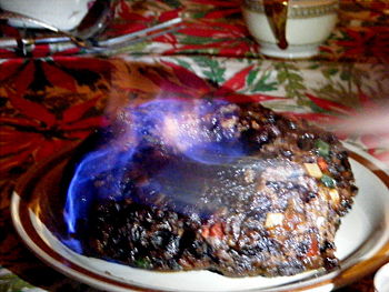 A Christmas pudding made with figs