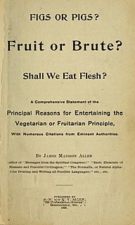 <i>Figs or Pigs?</i> 1896 treatise on Vegetarianism by James Madison Allen