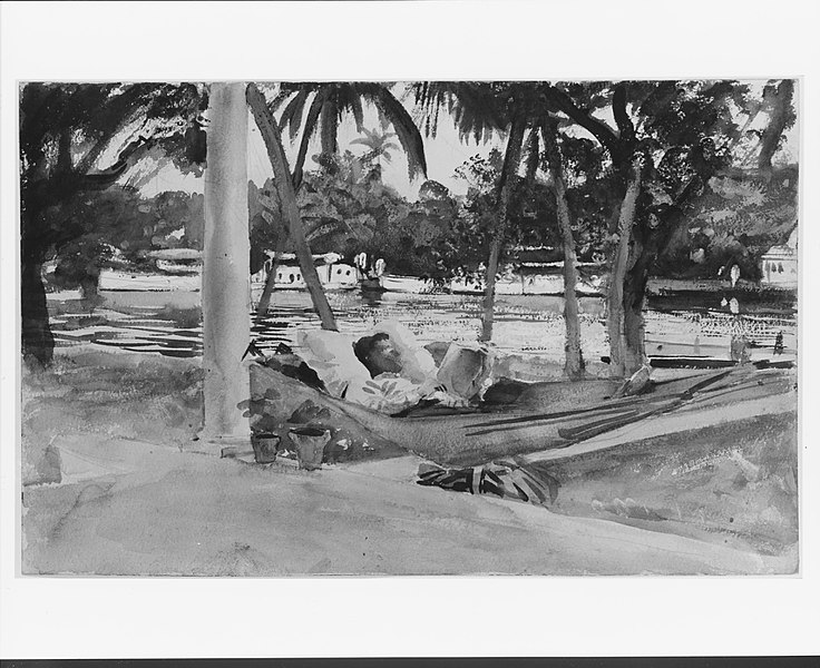 Person in hammock