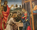 Filippino lippi, annunciazione coi ss g. battista e andrea, 1483, Q42, 02.JPG