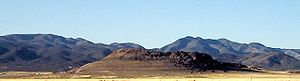 Interstate 15 in Utah - Extinct volcano cone near Fillmore, Utah off I-15