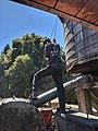 Fireman refilling water tank on Dixiana.jpg