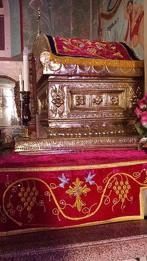 Gregorios Abdal Jaleel - Tomb of Mar Gregorios Abdal Jaleel inside St. Thomas Jacobite Syrian Church, North Paravur.