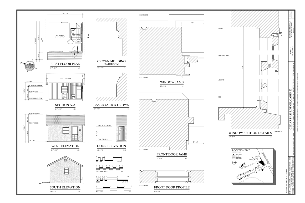 File First Floor Plan Building Section West Elevation