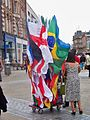 Flag vendor on Briggate in Leeds (24th June 2010) 003.jpg