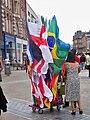 Flag vendor on Briggate in Leeds (24th June 2010) 003.jpg