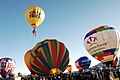 Flickr - Official U.S. Navy Imagery - Rear Adm. Michael Broadway, deputy director of Concepts and Strategies for Information Dominance, floats in the lead balloon at the Albuquerque International Balloon Fiesta 2011.jpg