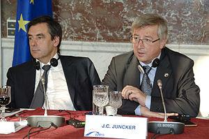 Jean-Claude Juncker - Juncker with French Prime Minister François Fillon on 29 October 2009
