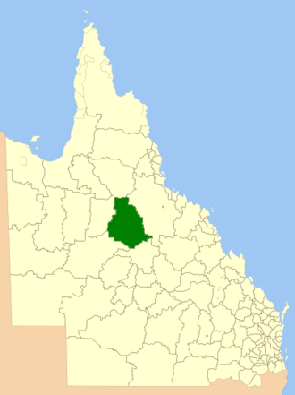 Shire of Flinders (Queensland) - Location within Queensland