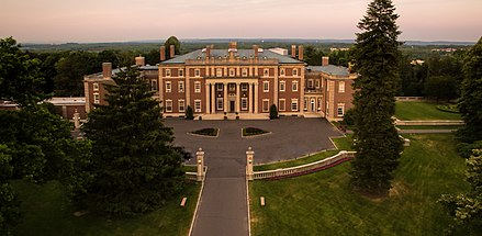 Wren's Hampton Court inspired Florham, a Vanderbilt family house in Madison, New Jersey. Florham Park from the mini-drone.jpg