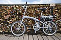 Folding bike Pont des Arts, 28 July 2014.jpg