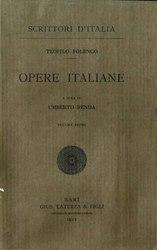 Teofilo Folengo: Opere Italiane