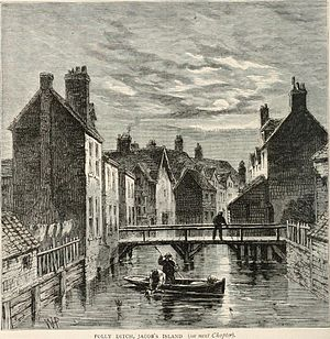 Jacob's Island - Engraving of Folly Ditch from the 19th century.