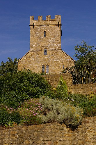 West Milton, Dorset - Early 16th-century tower of the former chapel of St Mary Magdalen