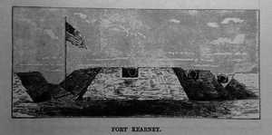 Fort Kearny (Washington, D.C.) - Fort Kearny as built by the 15th Regiment New Jersey Volunteer Infantry, September 1862